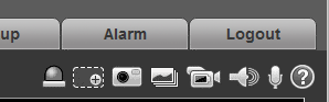 Audio Icon on IP cameras in web browser