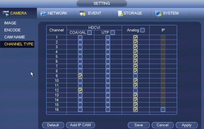 Channel Types on Tribrid DVR