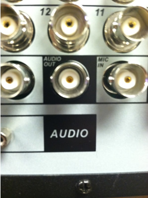 Audio Input/Output on DVR