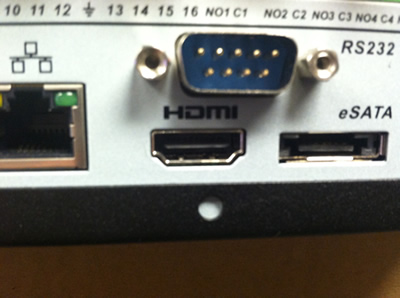HDMI input on DVR