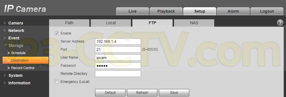 ipcam-FTP