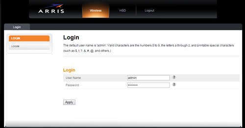 router-login